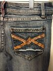 Bailey's Point sz 3 x 31 Juniors Womens Blue Distressed Denim Jeans, Good plus
