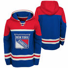 NHL New York Rangers Asset Pullover Hockey Hoodie Top Sweater Jumper Youth Kids $64.5 USD on eBay
