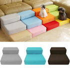 Large 2 Step Pet Stairs Washable Dog Puppy Cat Sofa Bed Indoor Soft Ramp Ladder
