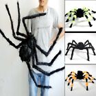 Black Spider Halloween Decoration Haunted House Prop Indoor Outdoor Wide 125cm