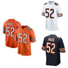 New Mens Chicago Bears 52 Khalil Mack Mens Navy Orange White Jersey Size40 56