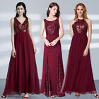 Ever-Pretty Homecoming Sequins  Party Maxi Prom Dress Evening Burgundy Dresses