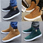 Fashion Mens Oxfords Casual High Top Shoes Leather Shoes Canvas Sneakers US New