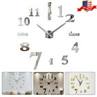 Fashion 3D Large DIY Number Mirror Wall Sticker Big Watch Home Decor Art Clock