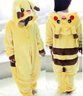 Pikachu Unisex Kids Boys Girls Kigurumi Animal Cosplay Costume Pajamas Sleepwear