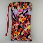"""NEW 10"""" X 6"""" Padded Pipe Bag /Pouch /Case /Bong/ Bubbler / Cala Lillies"""