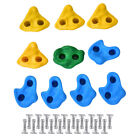 10/20Pcs In/Outdoor Textured Climbing Rocks Wall Stones Kids Assorted Bolt US