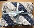 25% Off-See Details-Treasured Heirloom Receiving Blanket-Diagonal Stitch Hand Kn