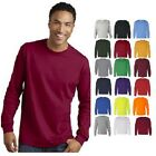 Gildan Heavy Cotton Long Sleeve T Shirt Mens Blank Casual Plain Tee Sport 5400 image