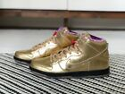 "Nike SB Humidity ""Trumpet"" Dunk Hi Metallic Gold US Men's 10 New"