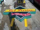 """Large Restaurant NEON SubStation Sign Sub Sandwiches Pizzas Home Cooked Meals 9"""""""