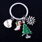 Family Gifts Love Heart Keyring Christmas Tree Keychain Dad Mom Xmas Jewellery