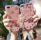 Bling Fr Apple iPhone Xs Max X 8 Glitter Hello Kitty Case Sparkle KT Cover Strap