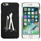 Black  'Skis & Poles In Snow' Case / Cover for iPhone 6 & 6s (MC00030089)