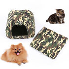 Pet Dog Cat House Kennel Bed Camouflage Washable Protable Comfortable