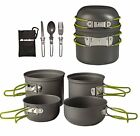 Wealers Cookware 7 Pieces Kit Cookset Backpacking Gear & Hiking Outdoors Cook...