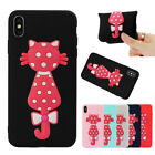 3D Cute Cat TPU Soft Protective Phone Case Cover For iPhone XSMAX XR Samsung