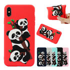 3D Cute Panda TPU Soft Protective Phone Case Cover For iPhone XSMAX XR Huawei