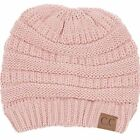 Indie Pink Solid Cable Cutie Polyester Women's One Size Knit Beanie Style Hat