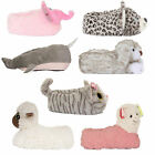Loungeable Womens Cute 3D Animal Slippers Ladies Novelty Cosy Plush Indoor Shoes