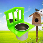 Pet Parrot Bird Cage Hanging Stand Toy Food Water Feeder Bowl Container+ Mirror
