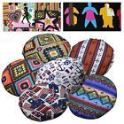 Flat Round Shape Cover*Cafe Cotton Canvas Floor Seat Chair Cushion Case*AL4