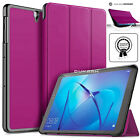 "Smart Stand LEATHER Magnetic Case Cover For Huawei MediaPad M3 Lite 10"" 8"" 8.4"""