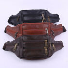 Men Retro Leather Waist Bag Phone Belt Fanny Pack Purse Bag Wallet Travel Usa