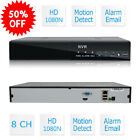 8CH 1080P Onvif CCTV NVR Network Video Recorder P2P Cloud Service HD Monitoring
