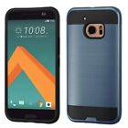 For HTC 10 Brushed Hard Silicone Impact Armor Phone Protector Case Cover
