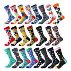 Mens Combed Cotton Socks Fashion Colourful Funny Novelty Crew Socks Wedding Gift