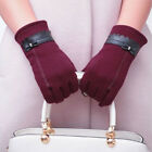 Fashion Womens Ladies Bowknot Thermal Lined Touch Screen Gloves Winter Warm US