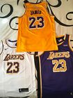 Lebron James Lakers Jersey 2018 2019 Gold White and Purple