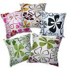 Pillow Cover*4 Leaf Cotton Canvas Sofa Seat Pad Cushion Case Custom Size*AF5