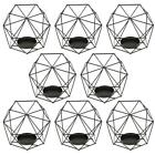 8 x Wire Hollow Hexagon Geometric Tea Light Votive Candle Holder Wedding Favours