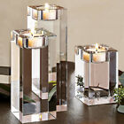 Cylinder Crystal Vase Wedding Centerpieces Tea Light Candle Holder Clear 3 Sizes