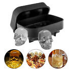 Silicone 3D Skull ICE Cube Tray Maker Round Ball Sphere Mold Whiskey Cocktails photo