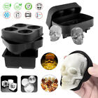 Silicone 3D Skull ICE Cube Tray Maker General area of Ball Sphere Mold Whiskey Cocktails