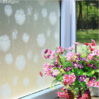 Privacy window treatment, white frosted dandelion static cling window film