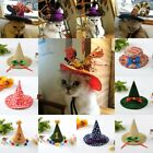 Halloween Witch Hat For Dog Cat Pet Party Fancy Dress Up Costume Outfits US