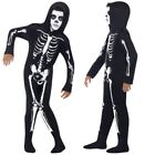 Smiffys Childrens Skeleton Costume Kids Halloween Outfit All In One Fancy Dress