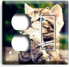 CUTE LUCKY PRAYING KITTY PUSSY CAT LIGHT SWITCH OUTLET PLATE ROOM HOME ART DECOR