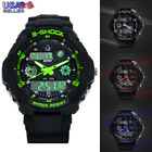 Fashion Men Multi Function Military S-Shock Sports Watch LED Waterproof Alarm US image