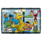 SESAME STREET RETRO GANG WOVEN THROW BLANKET FREE SHIPPING IN US