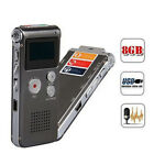 8GB Digital Audio Voice Recorder Rechargeable Dictaphone Telephone MP3 Playe