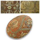 Flat Round Shape Cover*Damask Chenille Floor Seat Chair Cushion Case Custom*Wk3