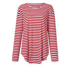 US Fashion Men Slim O Neck Long Sleeve Striped T-shirt Casual Fit Tops Blouse