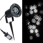 Outdoor Chritsmas Decorations LED Snowflake Projector Lights White Holiday Snowf