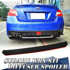 For 4TH Subaru WRX STI Rear Diffuser 15-17 Spoiler Wing Red Line and Paint Black