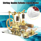 Double Cylinder Hot Air Stirling Engine Motor Model Education Generator Toy